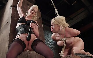Elegant matures share a session of femdom porn