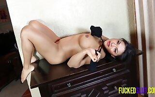 Voluptuous Latin Deity Posing In Sexy Stockings