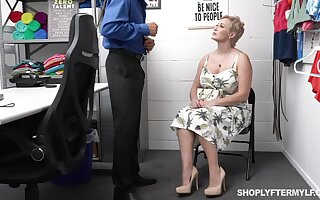 Super erotic chubby woman gets punished for shoplifting