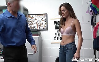 Good looking woman Aila Donovan gets punished be worthwhile for shoplifting
