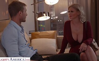 Fabulous huge breasted MILF Casca Akashova bends over for good doggy