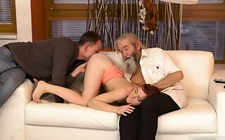 Two old granny s and man fucks obese tits milf Unceremonious