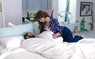 Passionate going to bed ends with cum in mouth for matured Syren De Mer