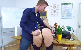 Young lover gets rough undeviatingly making MILF Brittany Bardot his bitch