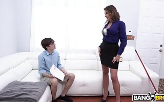 Younger nerd with a expansive dick fucks juicy pussy of Helena Sally