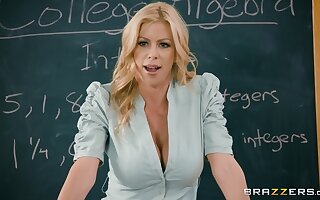 Hot female tutor shares a dick with her best student