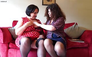 Several British Curvy Housewives Go on Full Of a male effeminate - MatureNL