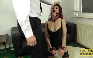 Injurious redhead slut Leanne Morehead gets rough fucked take all holes