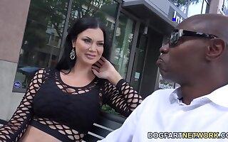 Ashen milf Jasmine Jae is fucked hard by several black jocks