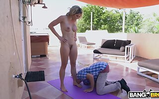 Morose blondie Cory Run after loves being fucked good after doing yoga