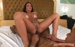 Brazilian Brunette With Big, Fixed Tits Plus Tan Lines Is Having Anal Sexual intercourse With A Malignant Guy