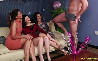 Birthday surprise for Ella Bella ends with congeries of dick sucking