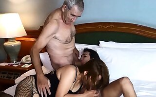 Cuckold by Asian ladyboy for Thai MILF spliced and her husband