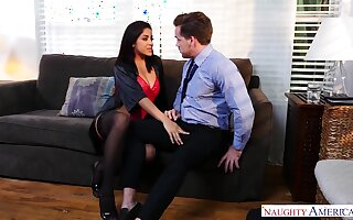 Lewd milf in stockings Mia Martinez seduces one married challenge