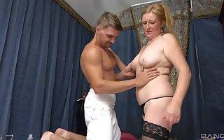 Muscled stud gives aging Lenka Rislava the bang of her life