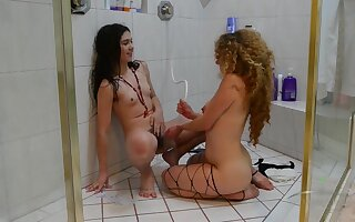 Who doesn't love a ginger minge especially a wild one with her hirsute friend - hairy pussy lesbians