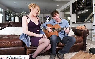 Eve Laurence stamina teach a sex lesson to make an issue of guitar teacher