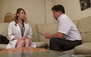 Flaming Japan mature seems keen to fuck and go for
