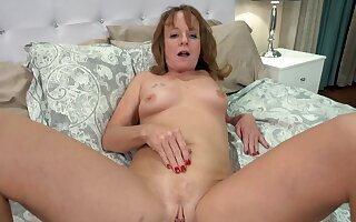 Horny older woman giving a blowjob before sex - Cyndi Sinclair