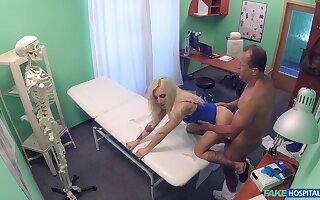 Tight blonde fucked in the ass and pussy