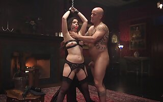 Rough domination and BDSM for the slaved girl