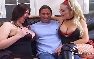 Busty MILFs Josephine James and Rebecca Jane Smith got double penetrated