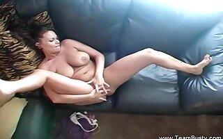 Perfect Boobs Redhead MILF Masturbation arousing Herself