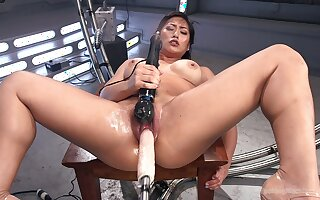 Mia Little needs her fingers, dildo, vibrator and a fuck machine