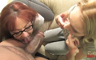 Black monster dick drills deep in Ruth Blackweel and Trinity Post