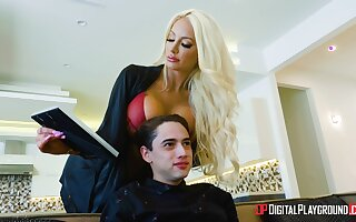 Skinny dude respecting a long schlong enjoys fucking cougar Nicolette Shea
