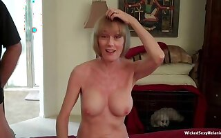 Amoral Low-spirited Melanie is hammer away hottest amateur granny around see for yourself