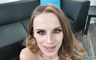 Blue- eyed beauty, Jillian Janson got down on her knees to suck a fat cock