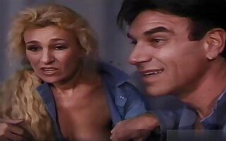 Mature blonde woman, Mia is having sex while in jail, with random guys with elephantine dicks