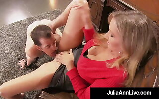 Weasel words Teasing Cougar Julia Ann Won't Take on Sex Slave To Cum!