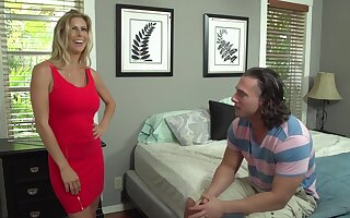 Alexis Fawx and her step- daughters far-out partner are fucking like evil animals, in eradicate affect bedroom