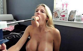 Fucking machine fucks her on Webcam Show