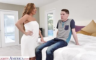 Conquered gorgeous mommy Richelle Ryan fucks son's best friend