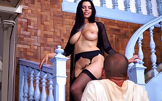 Dominate sex god Kira VIP gives her head with an increment of gets her cunt rammed