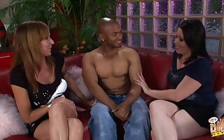 Black guy shows off his cock to Kaicee Marie plus Katie Raymond